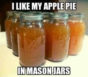 I like my apple pie in Mason Jars